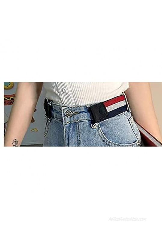 3 Pack No Buckle Elastic Belt for Women and Men Elastic waistband Elastic belt suitable for beltless pants
