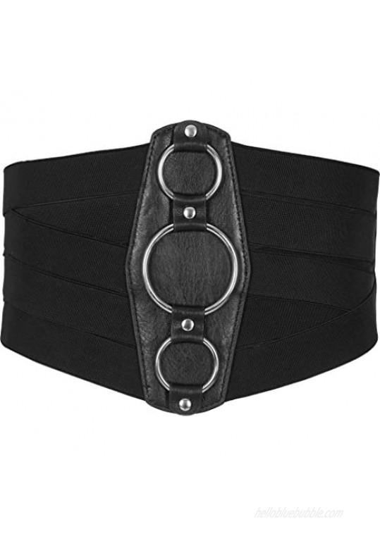 BlackButterfly 7 Inch Wide Lattice Corset Waspie Elastic Waist Belt