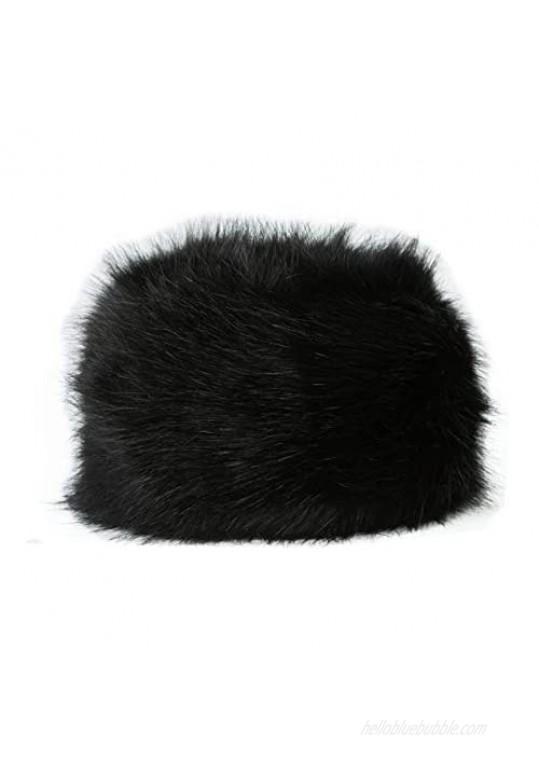 Lucky Leaf Women Men Winter Fur Cossack Cap Thick Russian Hat Warm Soft Earmuff