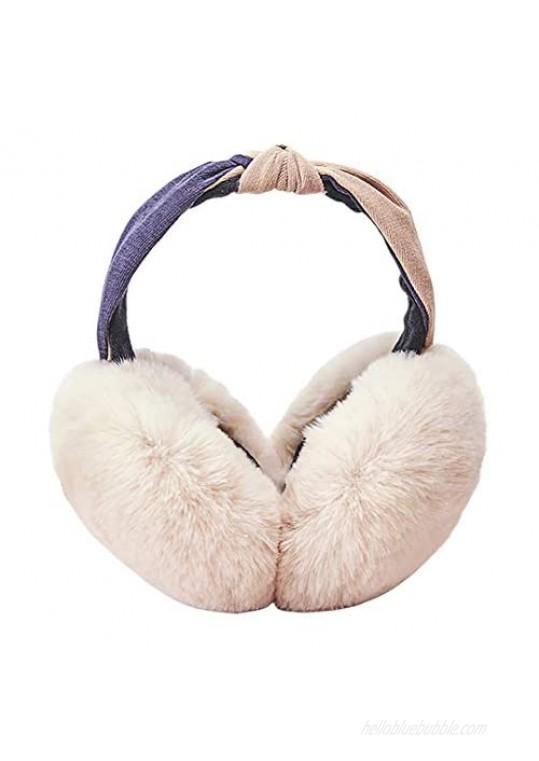 Radish Stars Women's Foldable Winter Ear Warmers Cute Outdoor Earmuffs Earlap Warm Ear Protection