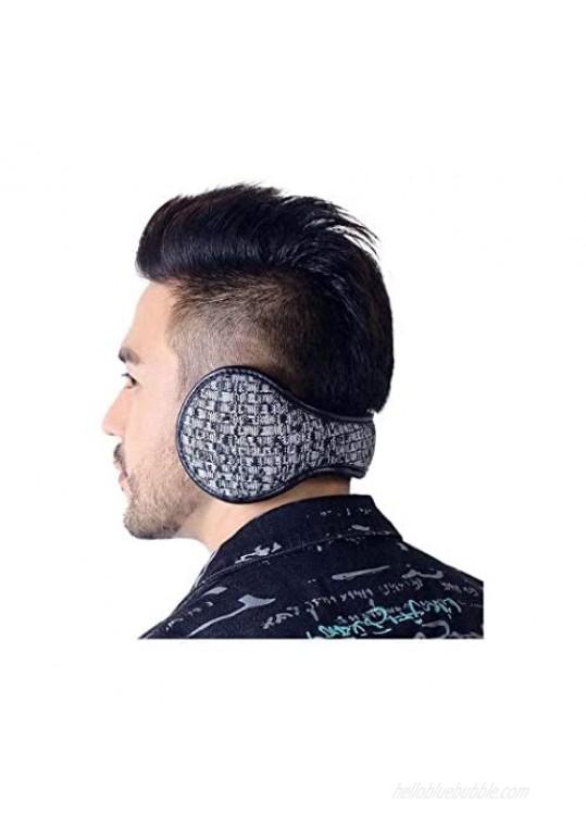 Yokawe Winter Ear Muffs Warm Black Earmuffs Outdoor Foldable Furry Fleece Ear Warmers for Women and Men