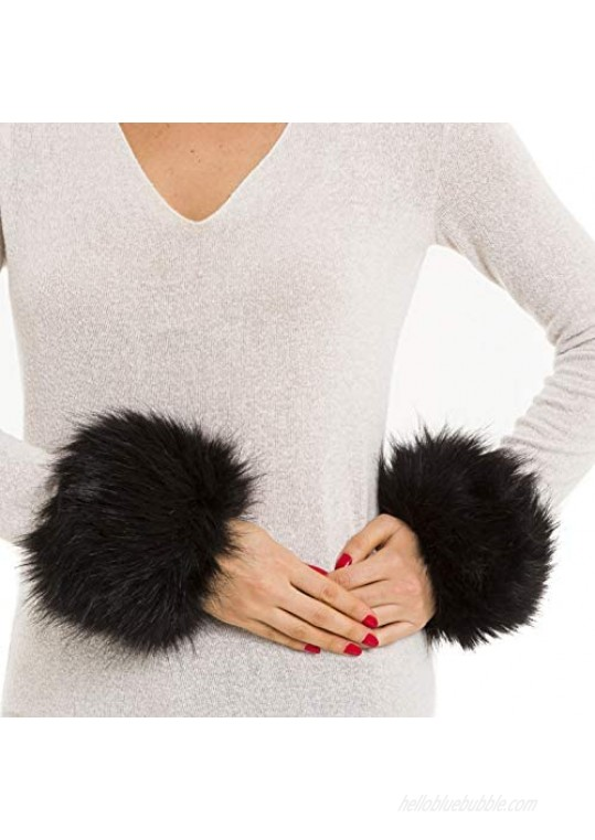 Faux Fur Wrist Cuffs Warmer for Women Arm Band Fashion Accessory For for Spring Fall