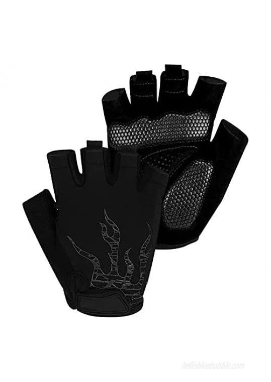 Voroar Cycling Gloves Half Finger Mountain Bike Gloves with Shock-Absorbing Gel Pad for Men and Women