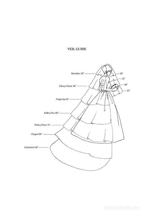 Unicra Bride Wedding Veil 1 Tier Long Bridal Cathedral Tulle Hair Accessories with Comb Wedding Veil Comb for Brides (59W-118L Ivory)