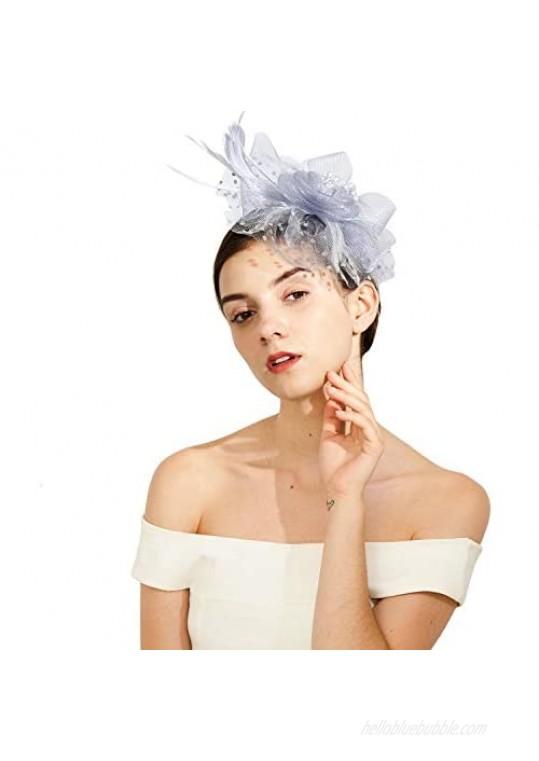Fascinator Vintage Derby Tea Hats with Headband Clip for Women
