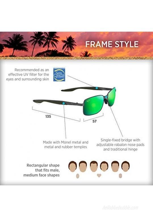 Maui Jim Men's Shoal Rectangular Sunglasses