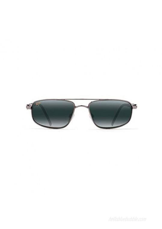 Maui Jim Men's's Kahuna w/ Patented PolarizedPlus2 Lenses Polarized Lifestyle Sunglasses  Gunmetal/Neutral Grey Polarized  Medium