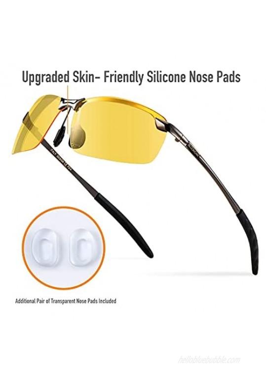 Night Driving Glasses / Polarized Sports Night Vision Glasses - Anti glare | UV 400 Protection | Night Driving | Fishing | Outdoor Sport | Unisex Eyewear