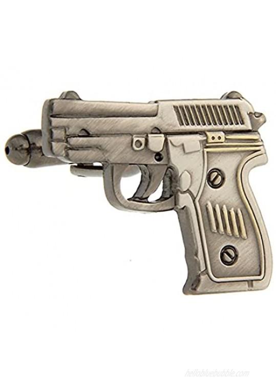 Army Cufflinks for Mens Jewelry The Gun Design Cuff Links
