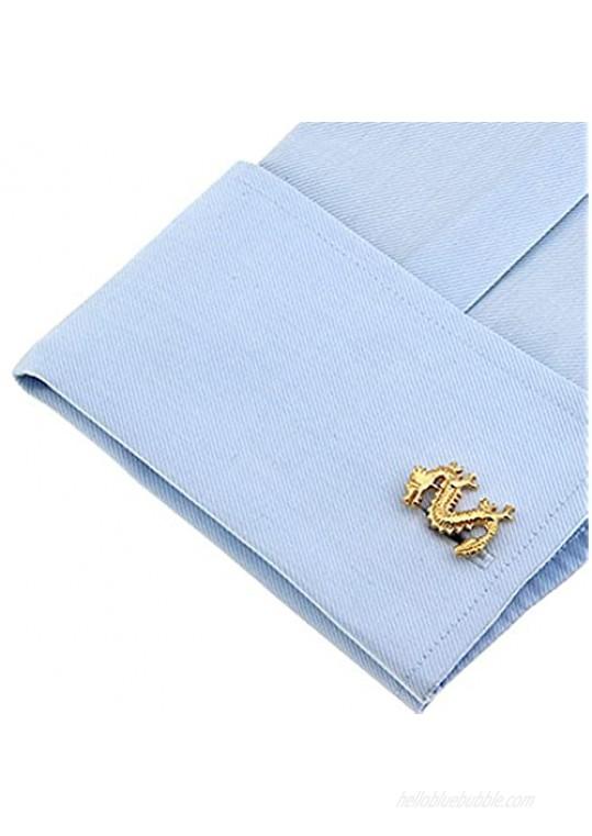 Chinese Dragon Symbol Character Cufflinks