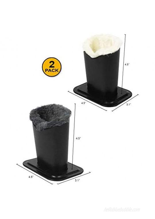 [2 PACK] JAVOedge Soft Lining Multi Color Pack Eyeglass Stands holder Case For Desks Or Nightstands