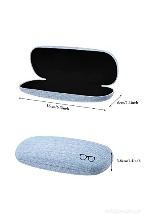 3 Sets Hard Shell Glasses Case Eyeglass Case Spectacle Case Box Protective Case