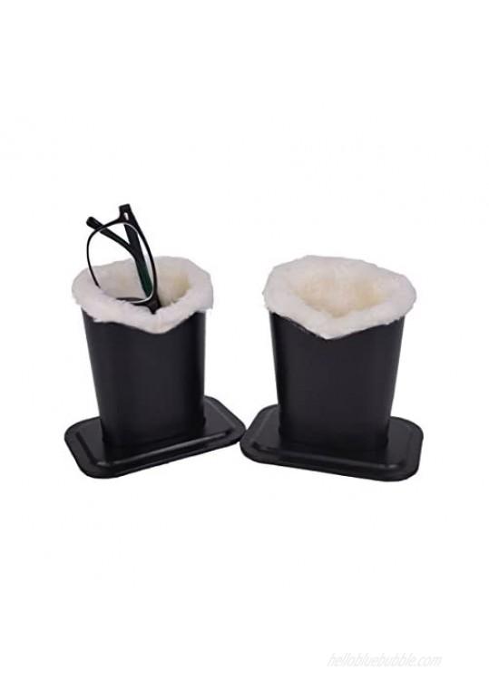 Baitaihem Plush Lined Eyeglasses Holder Stand Protective Glasses Holder For Desks Or Nightstands Pack of 2