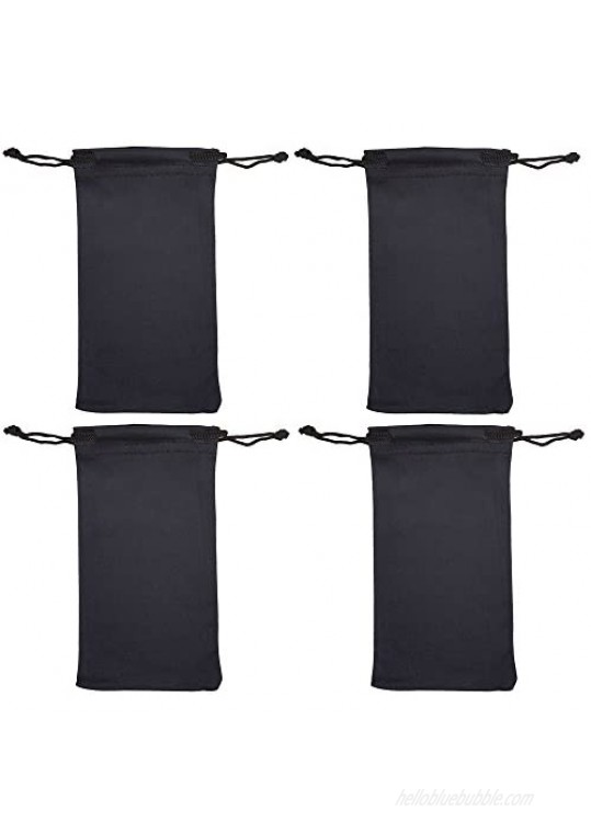 Microfiber Eyeglass Pouch 4 Pack For Jewelry Smartphones and Glasses Holder