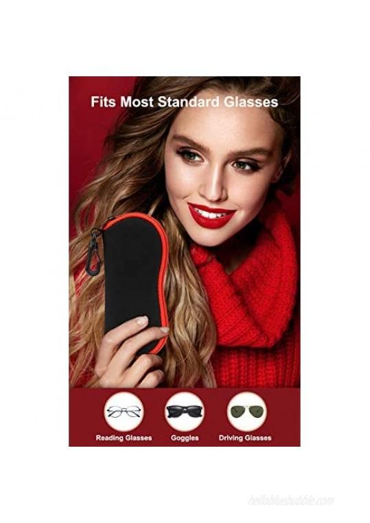 Sunglasses Soft Case Ultra Light Neoprene Zipper Eyeglass Case