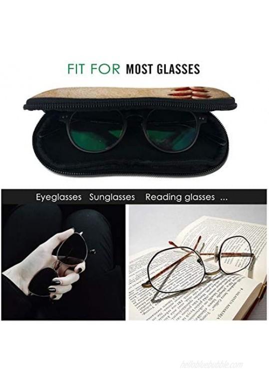 Sunglasses Zipper Soft Case Portable Neoprene Eyeglass Box with Belt Clip Ultra Light Travel Glasses Bag
