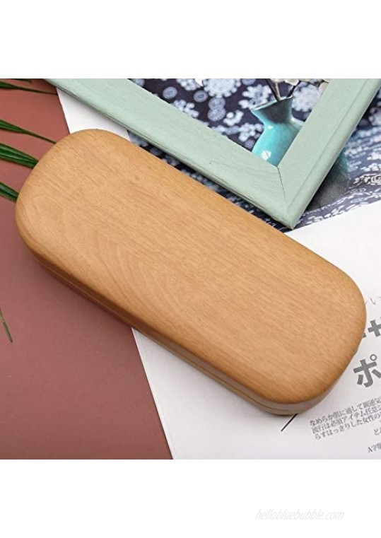 SUNGSHAIKIM Hard Shell Glasses Case for Eyeglasses Protective Case For Glasse Fits Small and Medium Sized Glasses