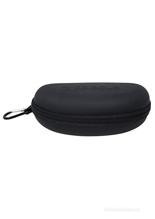 Waterproof Sunglasses and Eyeglasses Case - Durable Hard EVA Zippered Glasses Holder with Back Pack Clip - by Splaqua