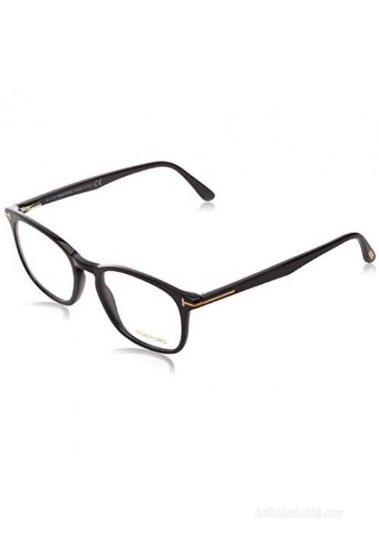 """Eyeglasses Tom Ford FT 5505 001 Shiny Black  Rose Gold""""t"""" Logo  52-19-145"""