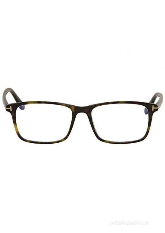 Eyeglasses Tom Ford FT 5584 -B 052 Shiny Dark Havana Rose Goldt Logo/Blue