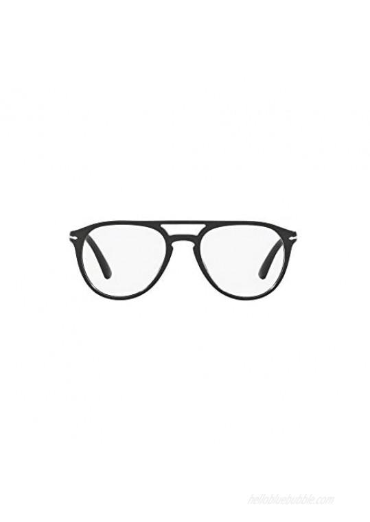 Persol PO3160V Pilot Prescription Eyeglass Frames Black/Demo 52 mm