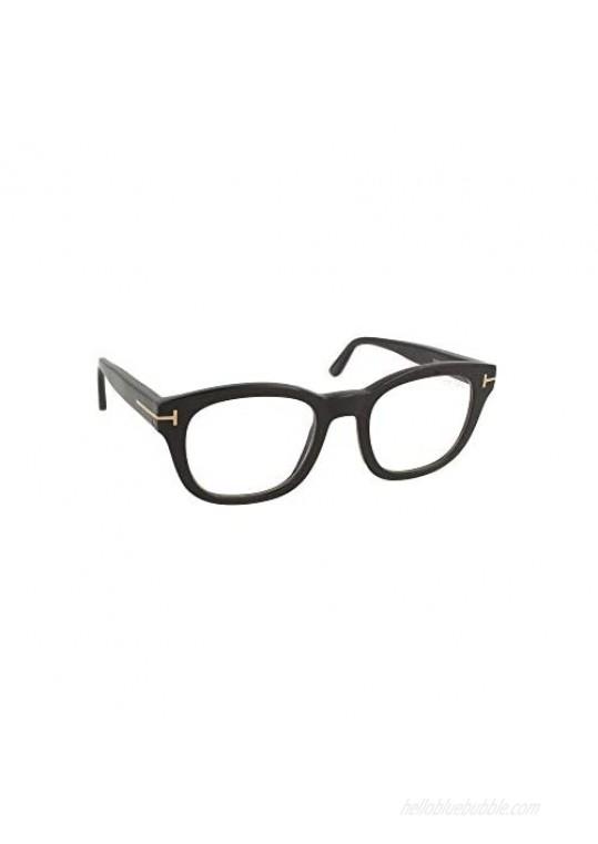 Tom Ford frame (TF-5542-B 001) Shiny Black Shiny Rose Gold T Logo / Blue Bloc 50/22/146