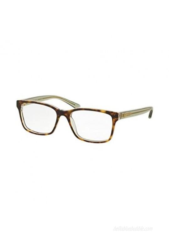 Tory Burch Women's TY2064 Eyeglasses Crystal Tortoise/Bottle Green 52-16-135