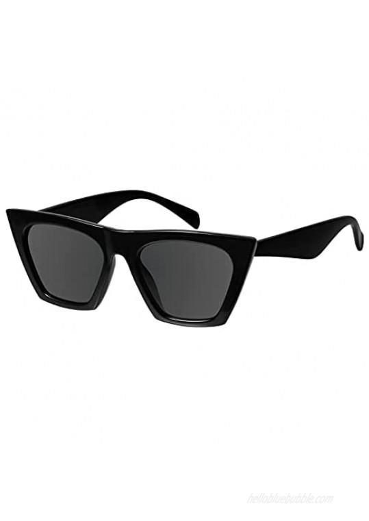 Mosanana Square Cat Eye Sunglasses for Women Trendy Style Model-SHINE