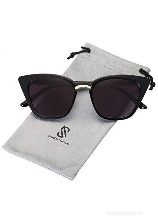 SOJOS Cat Eye Designer Sunglasses Fashion UV400 Protection Glasses SJ2052