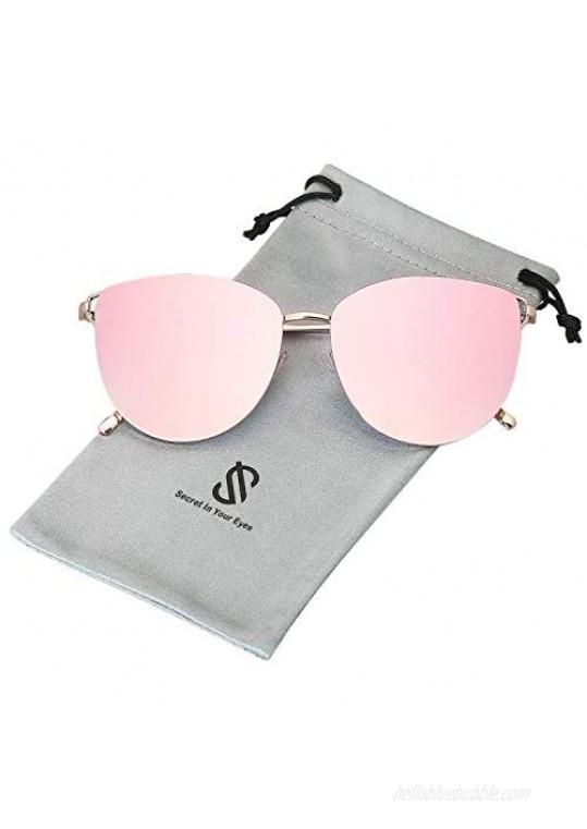 SOJOS Mirrored Flat Lens Fashion Sunglasses for Women SJ1085