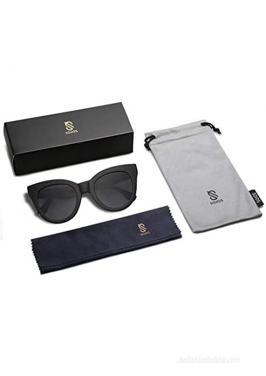 SOJOS Retro Vintage Oversized Cateye Women Sunglasses Designer Shades HOLIDAY SJ2074