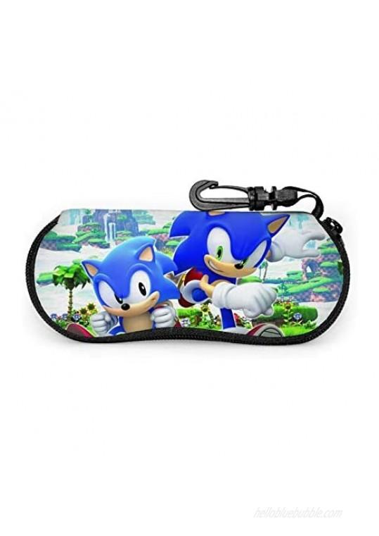meiystyle Sunglasses Soft Case with Carabiner Ultra Light Neoprene Zipper Eyeglass Case Portable Glasses Case