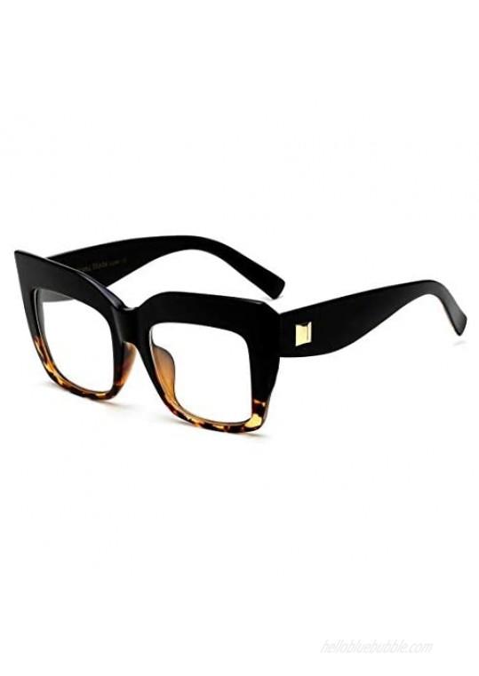 FEISEDY Square Oversized Glasses Frame Eyewear Women B2475