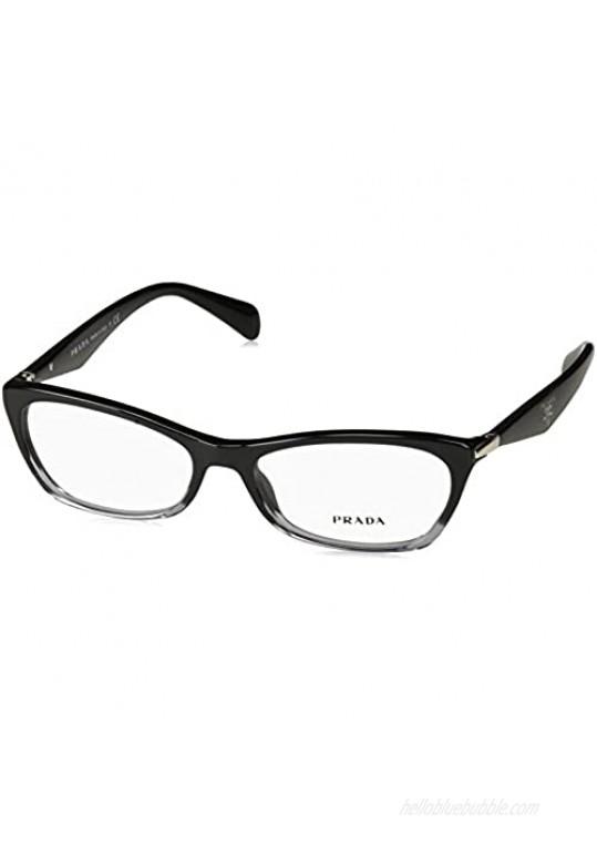 Prada PR15PV ZYY/1O1 Eyeglasses Black Gradient Transparent 53mm