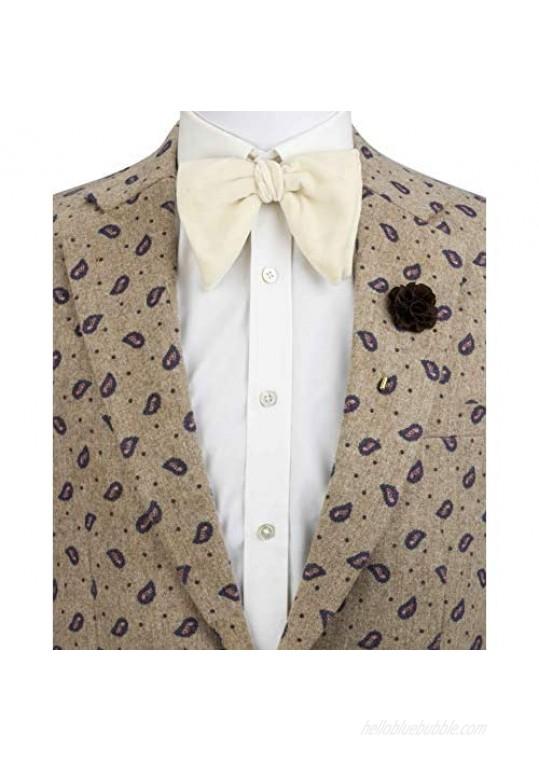 AN KINGPiiN Lapel Pin for Men Handmade Bunch Flower Brooch Suit Stud Shirt Studs Men's Accessories for Men (Brown)