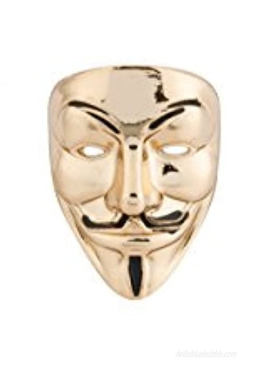 Knighthood Golden Anonymous Mask Lapel Pin Golden Lapel Pin Badge Coat Suit Wedding Gift Party Shirt Collar Accessories Brooch for Men