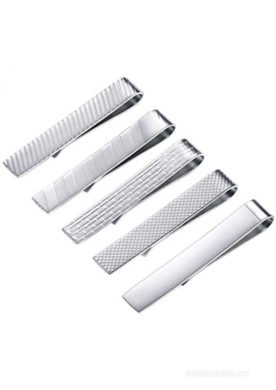 PROSTEEL Skinny Tie Bars 3/5/7pcs Tie Clips Set Business Professional Fashion Assorted Designs Men Jewelry Gift for Him