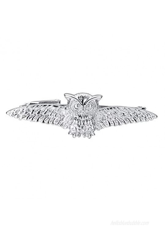 Yoursfs Owl Tie Clip For Men Harry Potter Inspired Vintage Style Tie Bar Custom Color Options