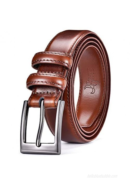 DWTS Belts for Men Classic Casual Dress Belt with Single Prong Buckle