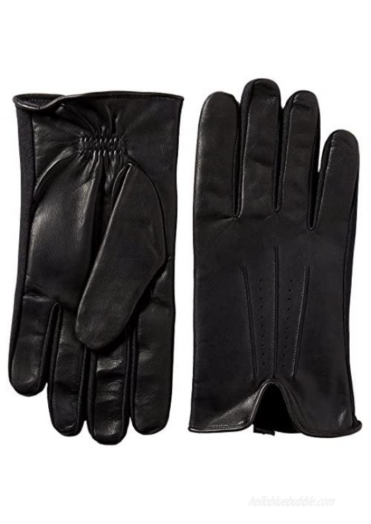 isotoner Stretch Leather Men's Gloves  Touchscreen Technology  Dual Liningisotoner Spandex Stretch Shortie Women's Gloves  Leather Palms  Black  MD