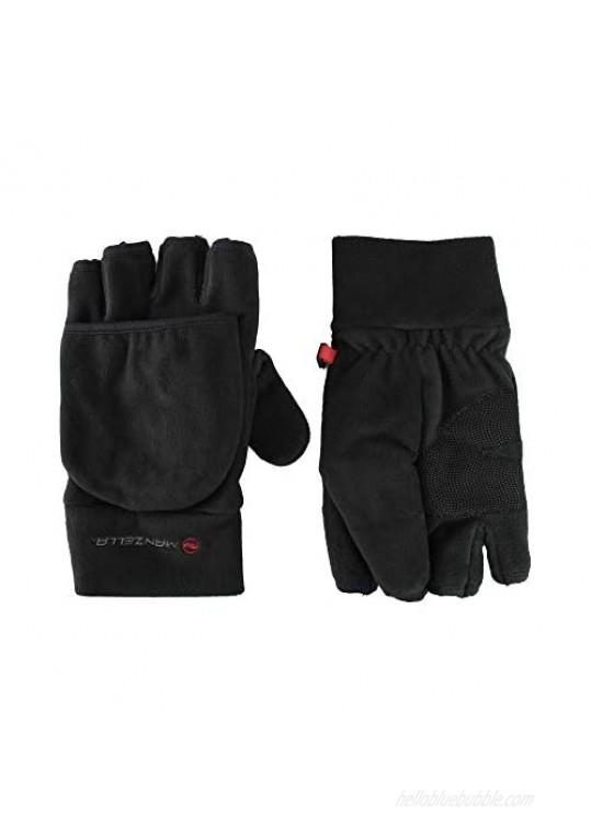 Manzella Men's Fleece Cold Weather Convertible Cascade Glove With Thinsulate