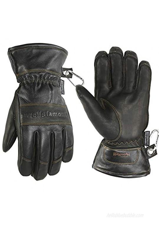 Men's Black HydraHyde Leather Winter Gloves  Waterproof Insert  XX-Large (Wells Lamont 7664K)