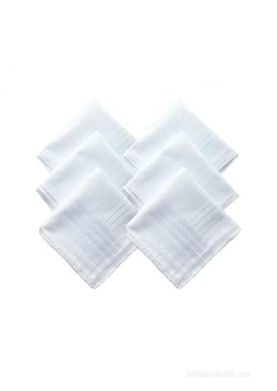 Mens Cotton White Handkerchiefs Pack
