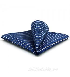 S&W SHLAX&WING Mens Ties Neckties Pack Blue Navy Stripe