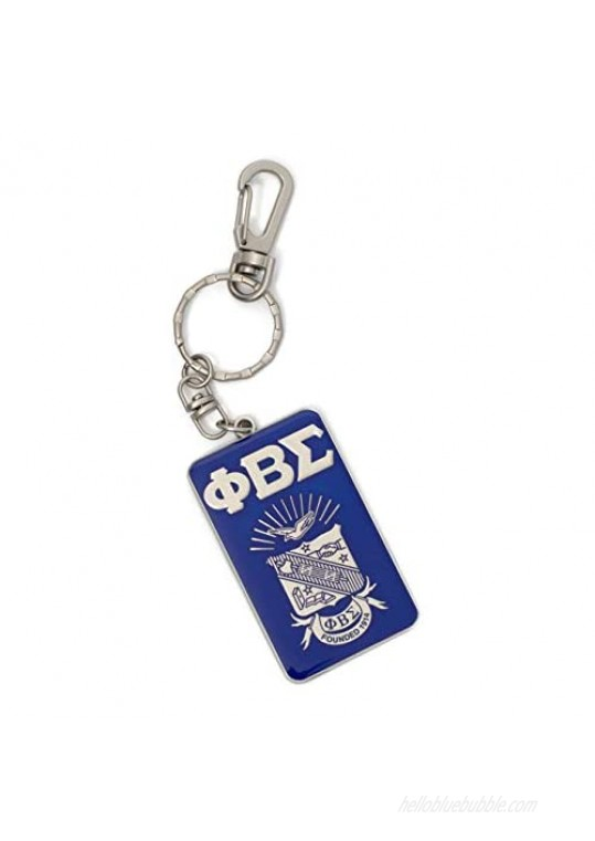 Bad Bananas Phi Beta Sigma Fraternity Paraphernalia Gifts - Officially Licensed - Keychain - Classic Letters and Shield