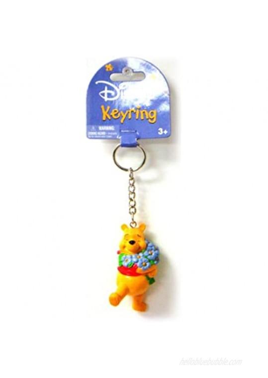 Disney Winnie The Pooh PVC Figural Key Ring   Yellow