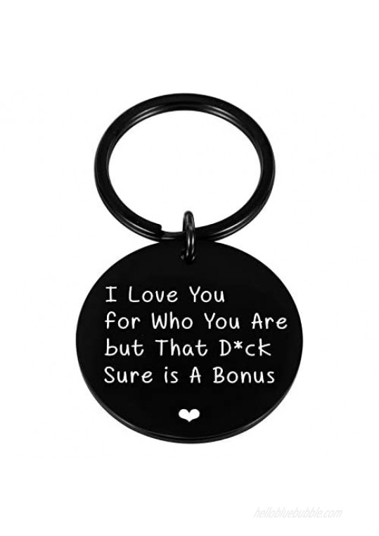 Funny Couple Valentines Gift for Husband To Be Dad Fthers Day Gifts Boyfriend Birthday Wedding Anniversary Keychain for Hubby from Wife Girlfriend Stocking Stuffer for Him Men Fiance from Fiancée Bride Gag Keyring