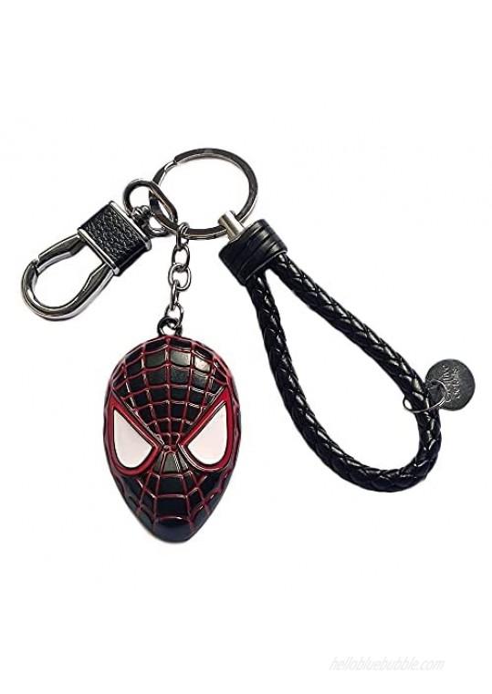 Gankchen Black Zinc Alloy Keychain Knited PU Car Keyring Keychains