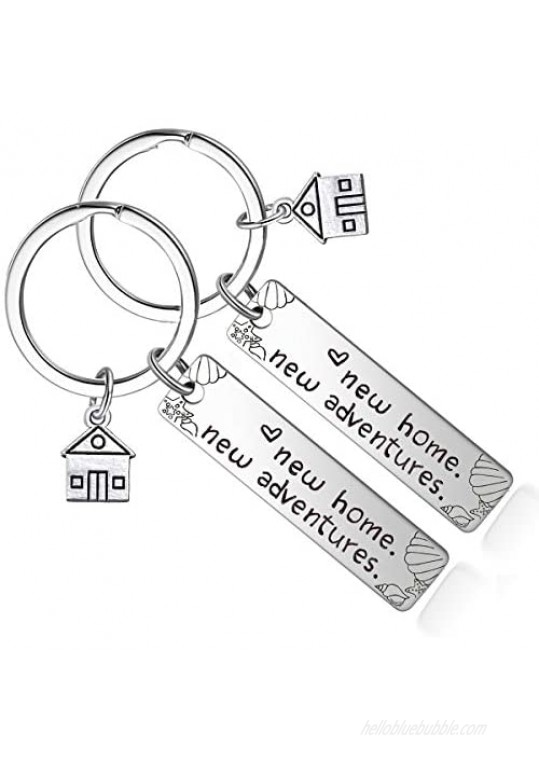 New Home Keychain - Housewarming Gift for New House Homeowner Moving in Key Chain Realtor Closing Gifts Keyring